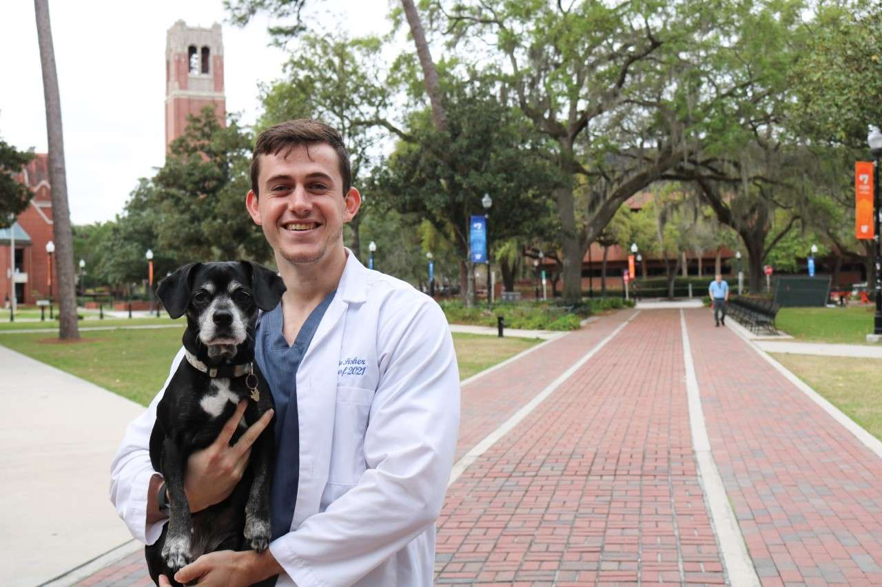 "Corey was was born and raised in Hollywood Florida. He had an interest in animals as a child and became set on veterinarian medicine after he shadowed at the Hollywood Animal Hospital. He received his undergraduate degree at UF where his experiences solidified his passion for veterinary medicine. These experiences included volunteering with the St. Francis Pet Care Clinic that works with under served populations.  Corey says, ""Scholarships have greatly improved my educational experience. The financial support allows me to stress less about finances and instead focus on the many daily tasks of veterinary school. In addition, these scholarship also boost my passion and enthusiasm for veterinary medicine because knowing someone is supporting my success encourages me to become even more engaged in all the opportunities the vet school has to offer."""