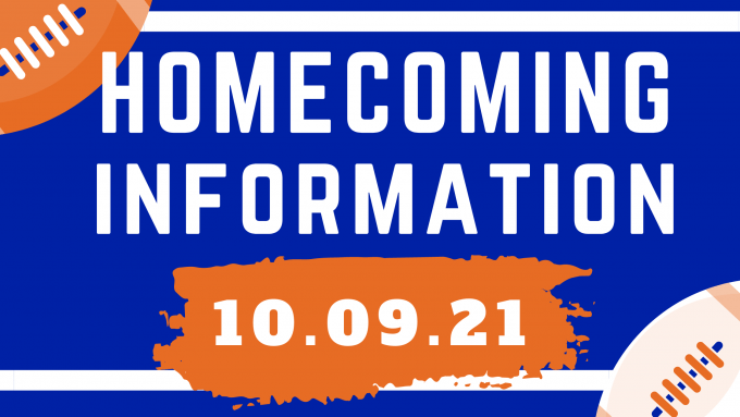 Homecoming Information 10.09.2021